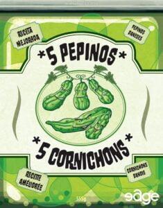 Fundas para cartas de 5 Pepinos / 5 Cornichons