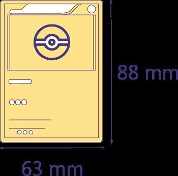 Medidas Fundas cartas Pokemon